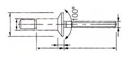 Cabeça Escariada Desenho Técnico