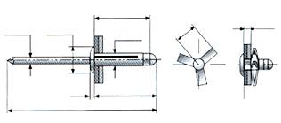 Desenho técnico do rebite