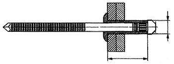 Rebite de repuxo semi-estrutural cabeça abaulada stelock de aço