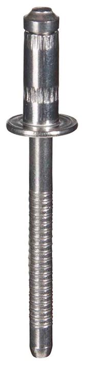 Rebite semi-estrutural av lock inox cabeça abaulada: Antes da instalação