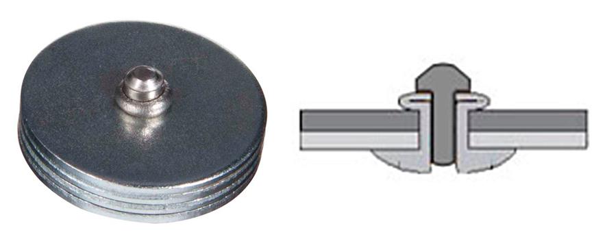 Rebite semi-estrutural cabeça abaulada av lock inox: Após a instalação