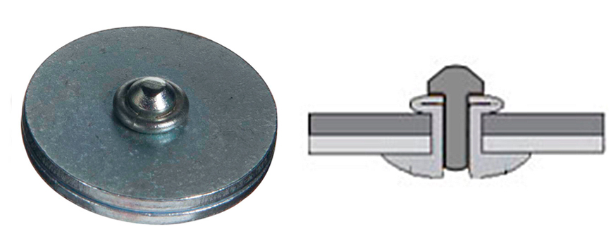 Rebite semi-estrutural stelock aço: Após a instalação