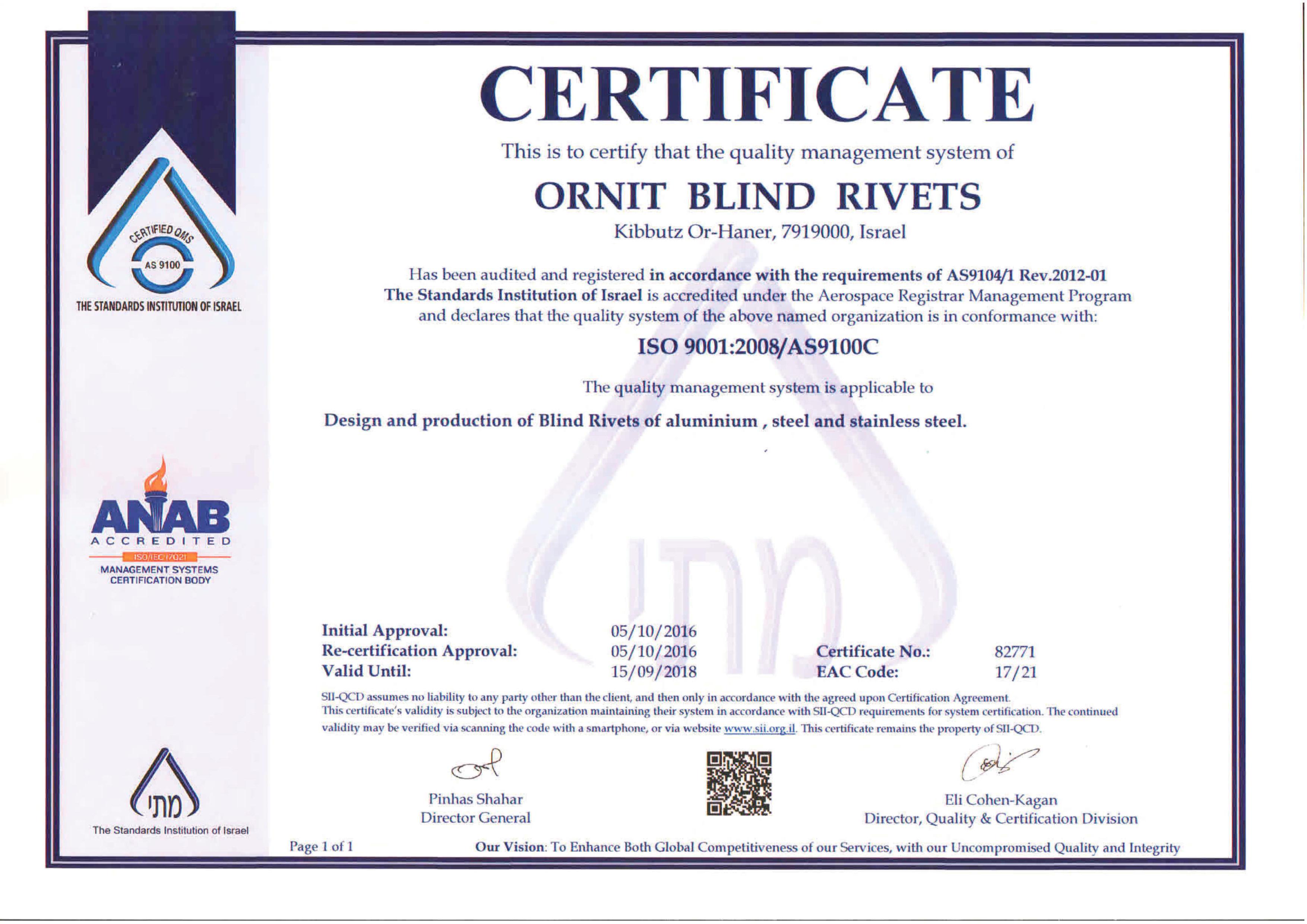 Certificado ORNIT